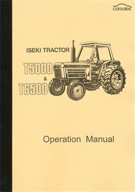 T5000 - Fiche technique Iseki T5000